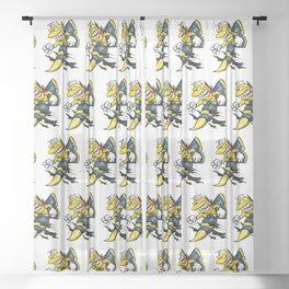 Cartoon Blue Angels F/A-18 Hornet Sheer Curtain