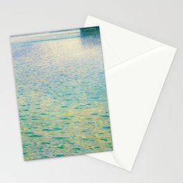 Island in the Attersee Gustav by Klimt Date 1902 // Abstract Oil Painting Water Horizon Scene Stationery Cards