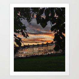 Green Sunsets & Georgian Architecture Art Print