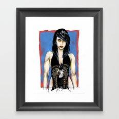 jamie lee Framed Art Print