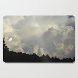 White Cloudscape Cutting Board