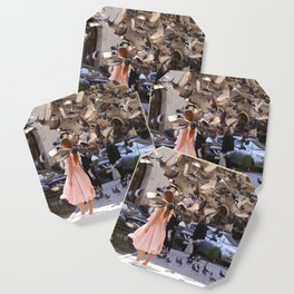The Girl with Doves Coaster