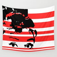 audrey Wall Tapestries featuring Audrey by Heaven7