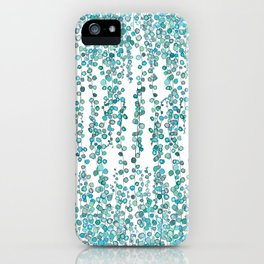 string of pearl watercolor iPhone Case