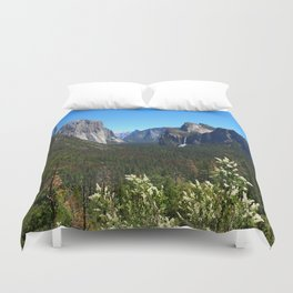 Bridal Veil Falls From Tunnel View Point - Yosemite Valley Duvet Cover