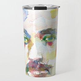 ALBERT EINSTEIN - watercolor portrait.8 Travel Mug