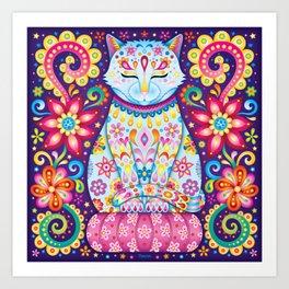 Zen Cat Art Print