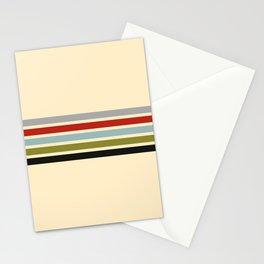 Abstract Minimal Retro Stripes 70s Style - Shigenaga Stationery Cards
