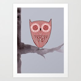 Teacake Owl  Art Print