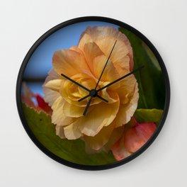 Begonia Wall Clock