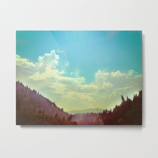Sky Mountain Metal Print