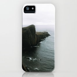 Neist Point Lighthouse II - Landscape Photography iPhone Case
