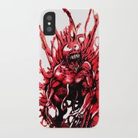 carnage iPhone & iPod Cases featuring Carnage watercolor by Noel Castillo