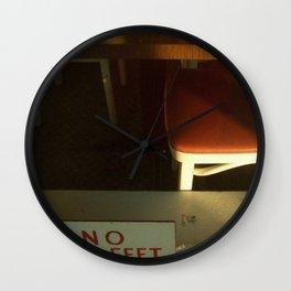 no bare feet Wall Clock