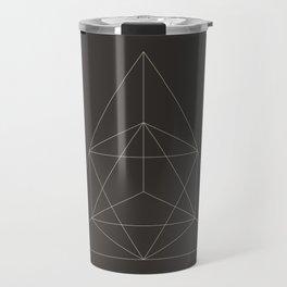 Geometric Dark Travel Mug