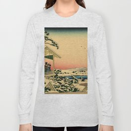 Japanese teahouse after the snow Long Sleeve T-shirt