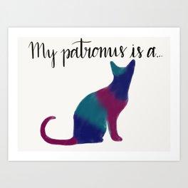 Cat Patronus Art Print