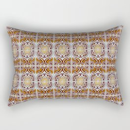 Close-up of ceramic wall tiles in Tavira, Portugal Rectangular Pillow