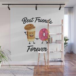 Best Friends Forever Donut & Coffee T-shirt (Donut Shirt) Wall Mural