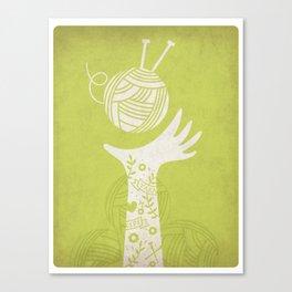 Yarn Love - Green Canvas Print