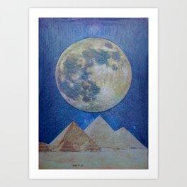 Moon Party Art Print