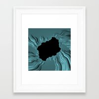 infamous Framed Art Prints featuring infamous black hole, FRACTALS by ACKelly