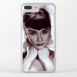 Audrey Hepburn, Actress Clear iPhone Case
