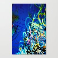 poem Canvas Prints featuring POEM by soem2014