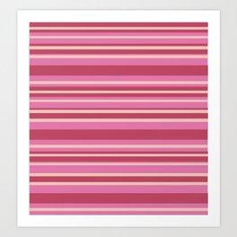 Pink & Yellow Stripes Art Print
