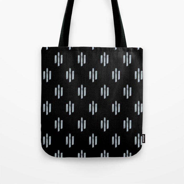 Tribal Lines Black Tote Bag