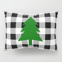 Christmas Tree - black buffalo check Pillow Sham