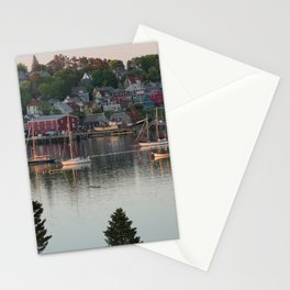 Boats in the harbor in Lunenburg, Nova Scotia, Canada at sunset Stationery Cards