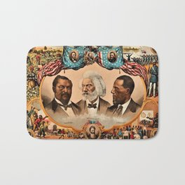 1881 African American 'Heroes of the Colored Race' Library of Congress Print Poster Bath Mat