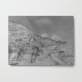 Eroding Graffiti Cliff Metal Print