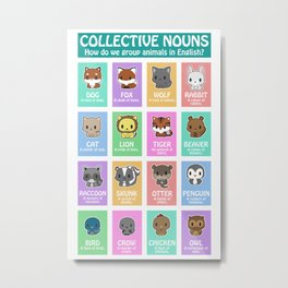 Collective Nouns 02 Metal Print