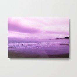 Beautiful Purple Ocean Shore Metal Print