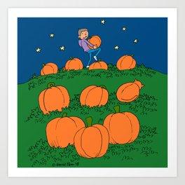 pumpkinpatch Art Print