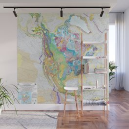 USGS Geological Map of North America Wall Mural