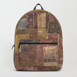 Etched Metal Patchwork Backpack
