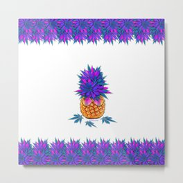 Cool Cannabis Pineapple Metal Print