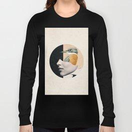 collage art / bird Long Sleeve T-shirt