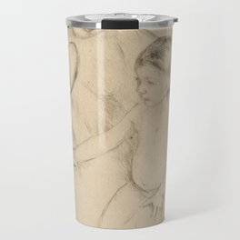 Mary Stevenson Cassatt (1844–1926), Margot Leaning Against Her Mother Travel Mug