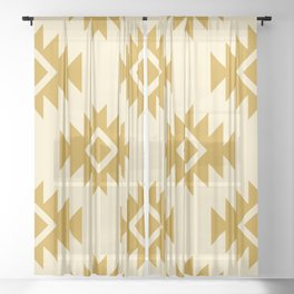 Third Eye Kilim in Gold Sheer Curtain