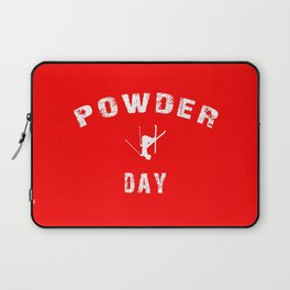 Powder Day Red Laptop Sleeve