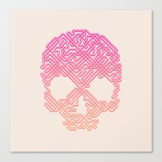 Labyrinthine Skull - Tropical Canvas Print