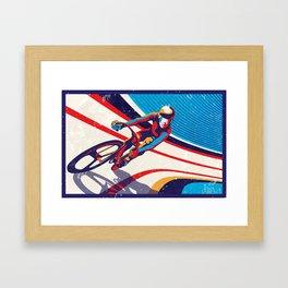 retro track cycling poster print G Force Framed Art Print