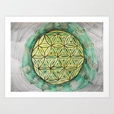 Green Mandala Art Print