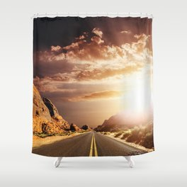 sunset on the valley of fire Shower Curtain