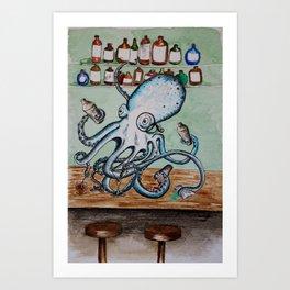 Octobartender Art Print