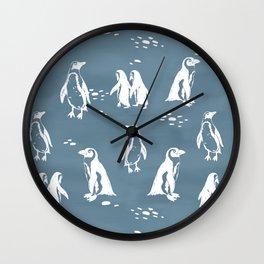 African penquins Wall Clock